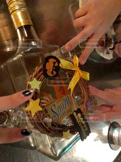 お酒,瓶,グラス,ハロウィン,リース,乾杯,ピース,ドリンク,テキーラ,アルコール,ショット,酔い,サウザー