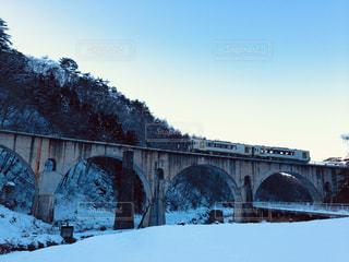 雪の眼鏡橋の写真・画像素材[1734031]