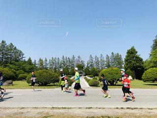 マラソン大会の写真・画像素材[2125232]