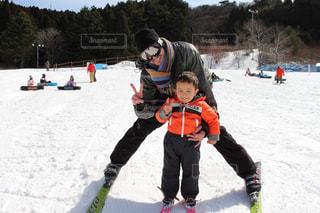 初めてのスキー!の写真・画像素材[1712836]