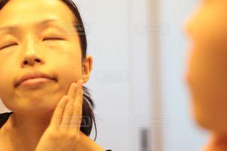 洗顔後の素肌の写真・画像素材[1736714]