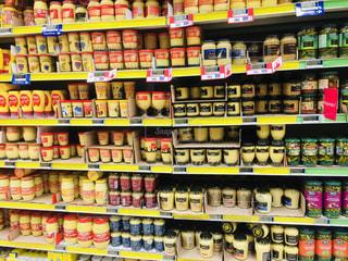 黄色,フランス,カラー,スーパーマーケット,yellow,マスタード,多種,イェロー