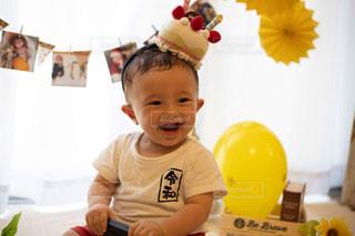 1歳の誕生日フォトの写真・画像素材[2328891]