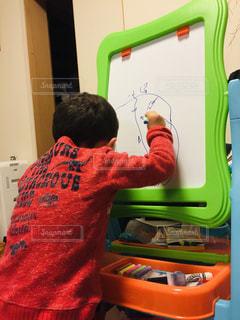 屋内,ペン,幼児,紙,ホワイトボード,おえかき,パッション,おうち時間