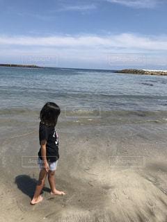 海,空,夏,子供,女の子,Tシャツ,半袖