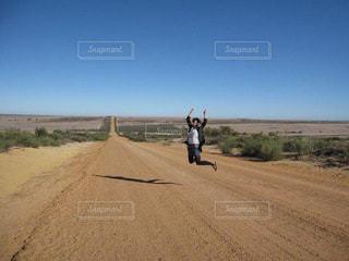 空,ジャンプ,大地,オーストラリア,ポジティブ