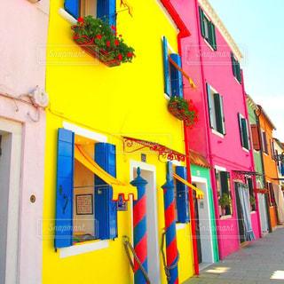 屋外,カラフル,島,黄色,鮮やか,お店,オシャレ,旅行,イタリア