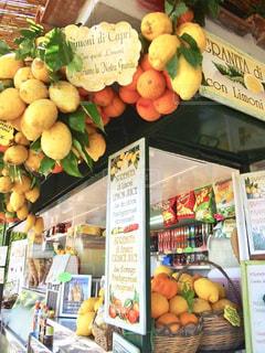シチリア島レモンのフレッシュジュース店の写真・画像素材[1837011]