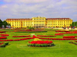空,建物,屋外,海外,黄色,観光,旅行,オーストリア,イエロー,黄,日中,宮殿,yellow,シェーンブルン宮殿