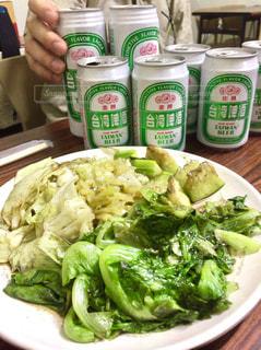 海外,観光,野菜,都会,旅,ビール,レストラン,台湾,Snapmart,海外旅行,野菜炒め,夜ご飯,台中,台湾ビール,写真素材,フォトコンテスト