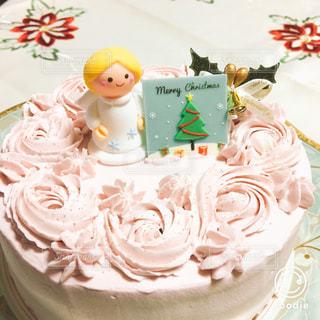 平成最後のクリスマスケーキは、天使のケーキで♫の写真・画像素材[1691359]