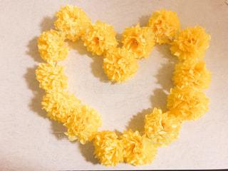 黄色,ハート,幸せ,黄,ペーパーフラワー,花紙
