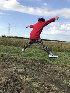 自然,ジャンプ,田舎,景色,未来,茨城県