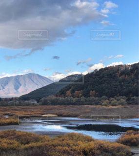 秋,湖,森,雲,山,岩手山,御所湖