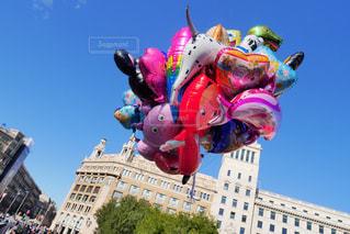 風景,空,海外,カラフル,綺麗,風船,外国,可愛い,スペイン,色,ワクワク,ウキウキ