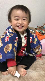 えくぼの男の子!満面の笑顔!の写真・画像素材[1604233]