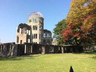 建物,秋,屋外,樹木,平和記念公園,広島,原爆ドーム,日中,広島市内