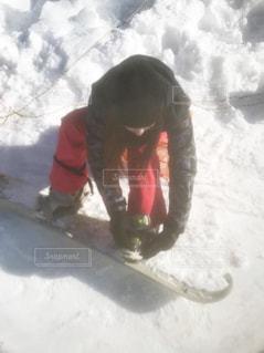 女性,冬,雪,晴天,女,女子,スノボ,スキー場,スノーボード,ウィンタースポーツ,雪国,初心者,ボード,スノボウェア,ボードウェア
