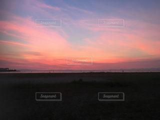 自然,風景,空,屋外,ピンク,太陽,ビーチ,雲,夕暮れ,水面,光,地平線,日の出,くもり