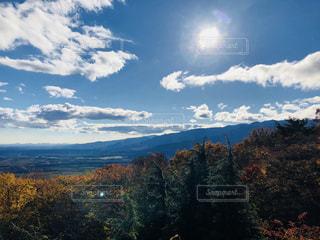 自然,風景,空,山,樹木,眺め