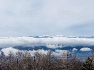背景の山と木の写真・画像素材[1693198]