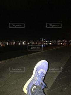 夜景,休憩,未来,ランニング,夢,宍道湖,ポジティブ,可能性