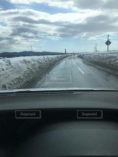 空,白,道路,車内,ホワイト,除雪,新潟県