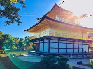建物,京都,快晴,金閣寺
