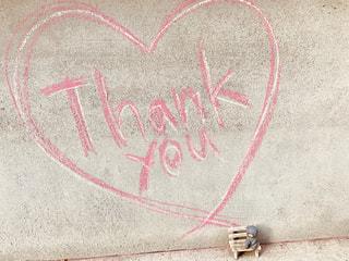 文字,ピンク,白,壁,置物,チョーク,壁面,メッセージ,くま,ありがとう,手書き,Thank you,クマ,手書き文字