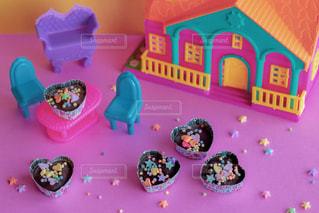 食べ物,ピンク,カラフル,プレゼント,ハート,おもちゃ,チョコレート,バレンタイン,チョコ,手作り,娘,バレンタインデー,ギフト,ポップ