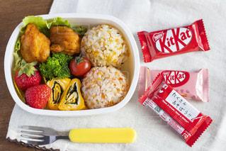お弁当,フォーク,おやつ,お菓子,チョコレート,メッセージ,手作り,キットカット,キット弁