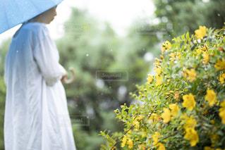 花を抱えている人の写真・画像素材[2184165]