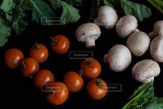 テーブルの上のオレンジのグループの写真・画像素材[2813476]