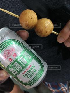 食事,屋台,市場,ビール,台湾,お団子,食べ歩き,旦那
