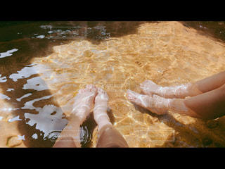 足湯の写真・画像素材[2079477]