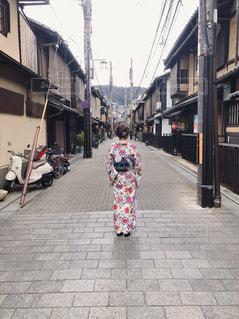 カップル,京都,後ろ姿,人物,背中,着物,人,旅行,休日,デート,京都観光