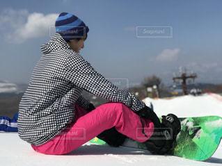 20代,空,雪,ピンク,カラフル,綺麗,男,寒い,スノボー,軽井沢,スキー場