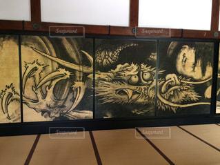 天龍寺の龍の写真・画像素材[1666310]