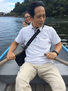 京都,ボート,旅行,お父さん,漕ぐ