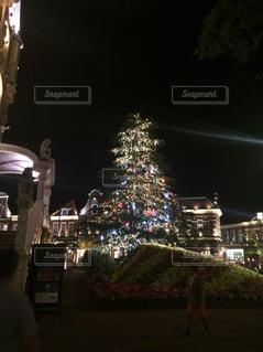 夜のライトアップされた街の写真・画像素材[1876624]