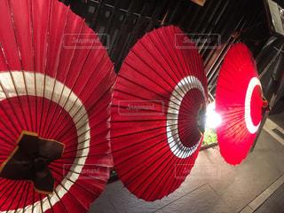 夜,傘,京都,赤,レトロ,照明,和傘,祇園