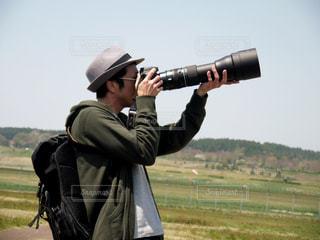 カメラ男子の写真・画像素材[1844041]