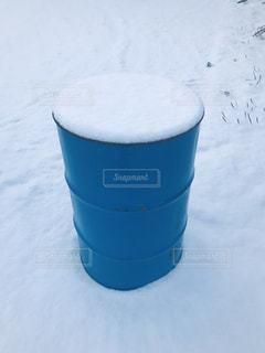 自然,風景,冬,雪,屋外,景色,ドラム缶,冷