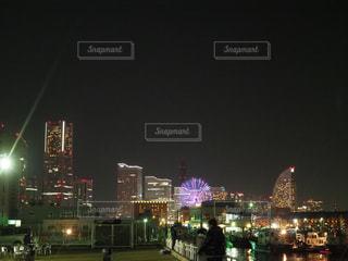 みなとみらいの夜景の写真・画像素材[1681491]