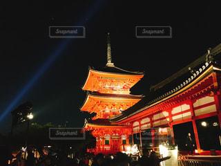 清水寺ライトアップの写真・画像素材[1680721]