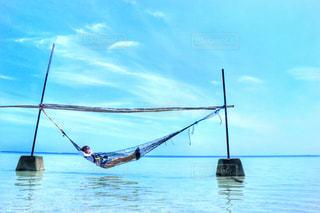 海で昼寝🏖の写真・画像素材[1816363]