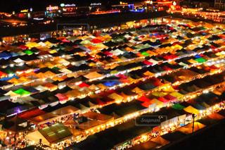 夜,屋台,観光地,鮮やか,旅行,市場,タイ,テント,海外旅行,バンコク,観光スポット,鉄道市場