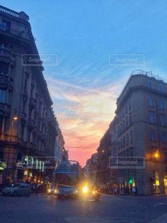 空,建物,夕日,屋外,景色,旅行,イタリア,海外旅行