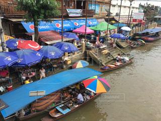 屋外,観光地,景色,旅行,タイ,海外旅行,観光スポット,日中,水上マーケット
