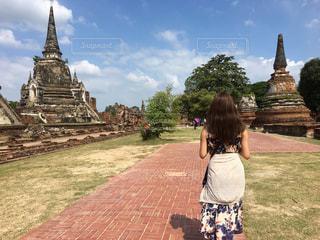 女性,空,屋外,後ろ姿,人物,背中,人,後姿,タイ